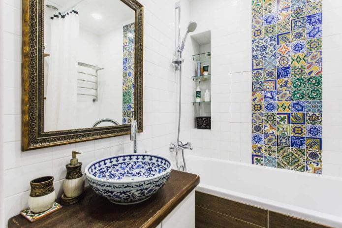марокканская плитка в ванной