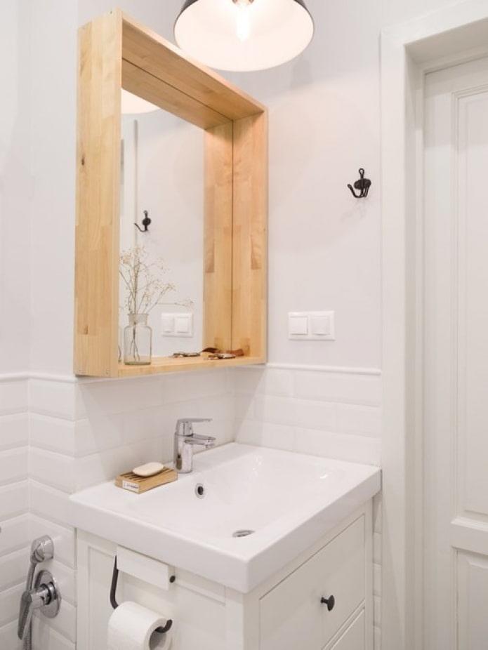 белая скандинавская ванная