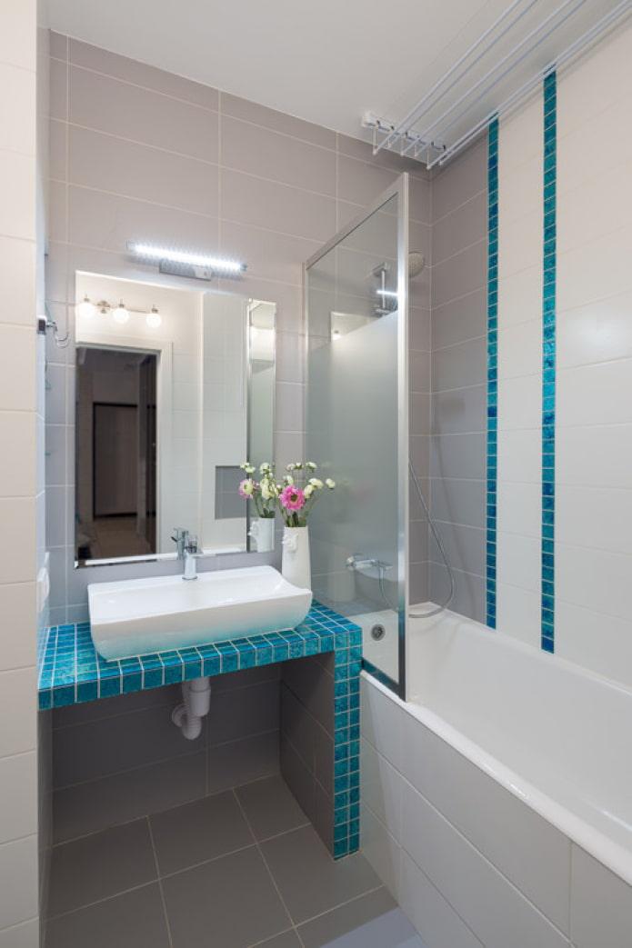 современная ванная в стиле минимализм