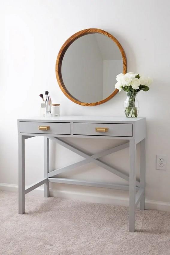 столик с зеркалом для макияжа своими руками