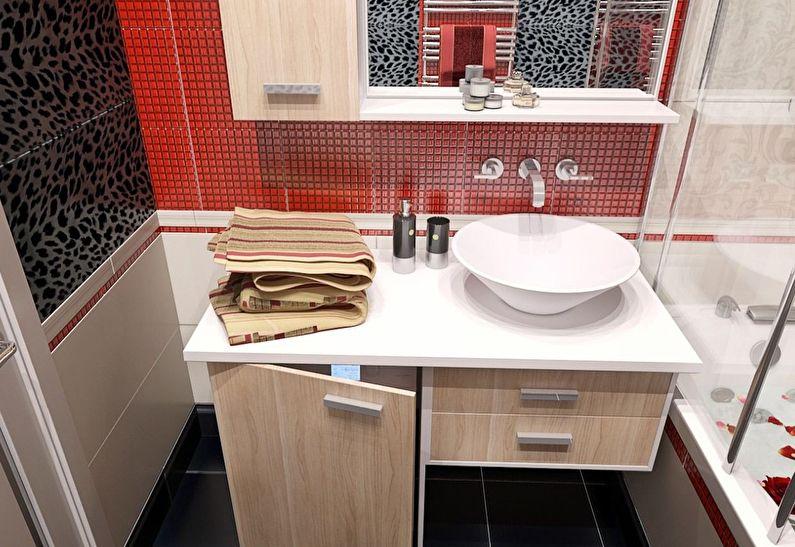Дизайн ванной комнаты 4 кв.м. - Сантехника