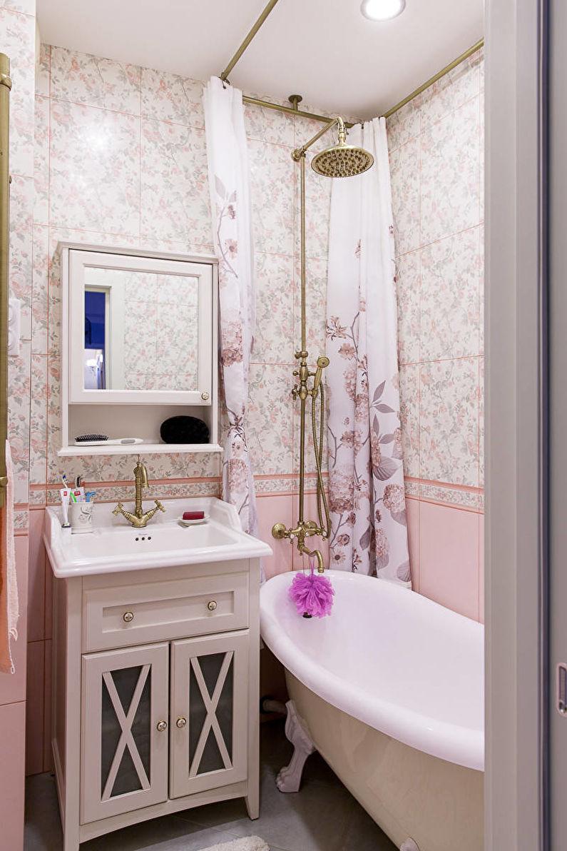 Ванная 4 кв.м. в классическом стиле - Дизайн интерьера