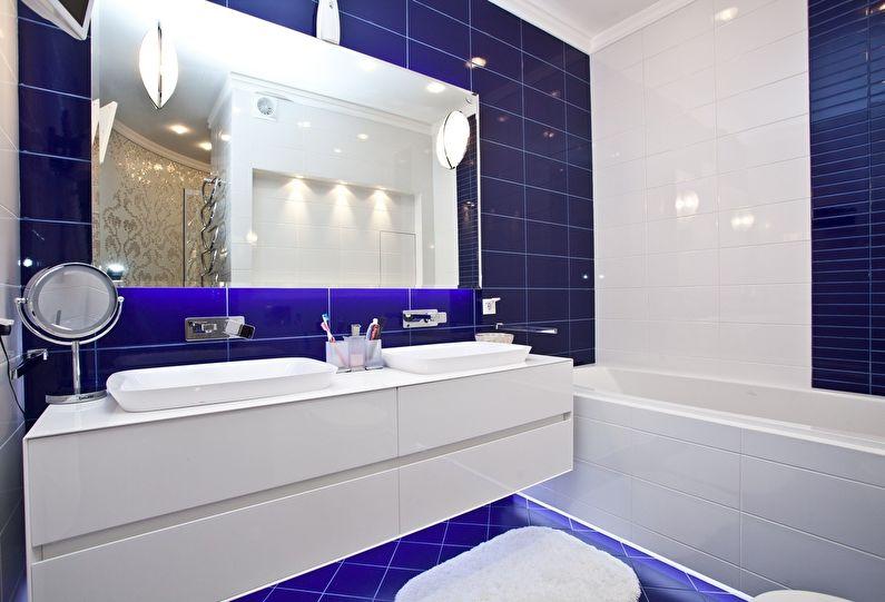 Дизайн ванной комнаты 4 кв.м. - Освещение и декор