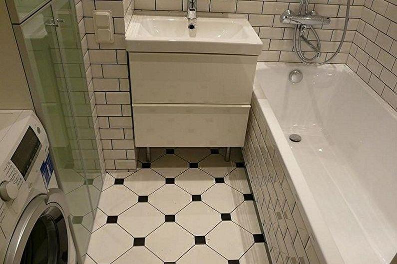Дизайн маленькой ванной комнаты - Отделка пола