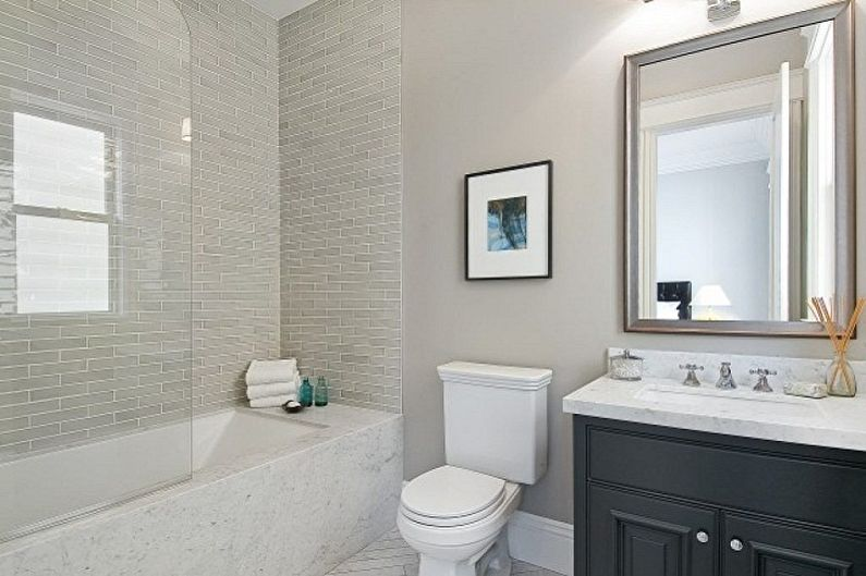 Дизайн маленькой ванной комнаты - Отделка стен