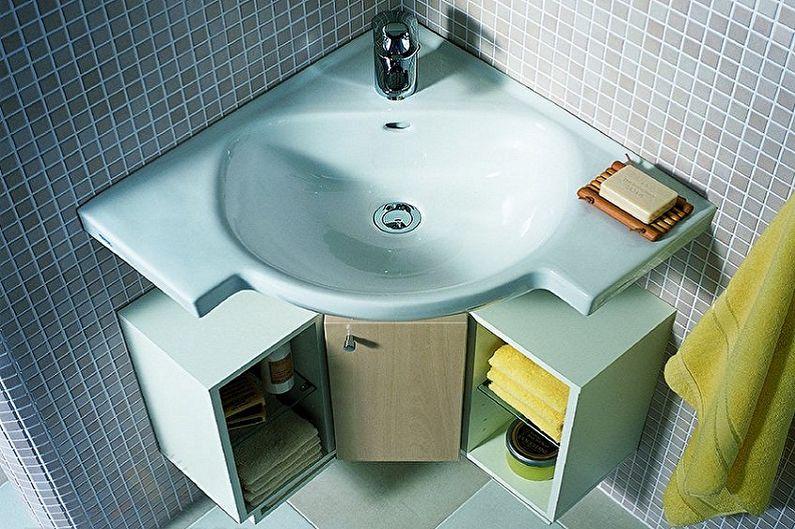 Дизайн маленькой ванной комнаты - Сантехника и мебель