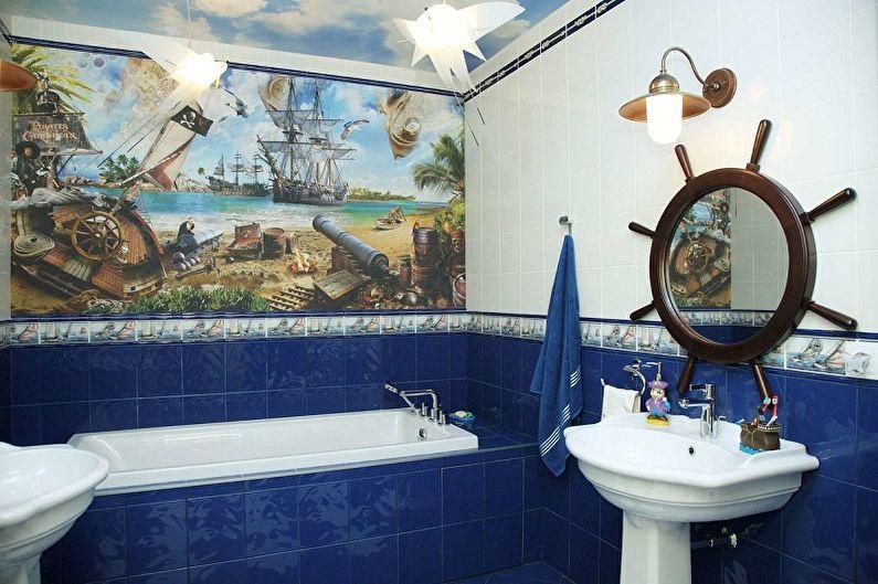Дизайн маленькой ванной комнаты - Освещение и декор