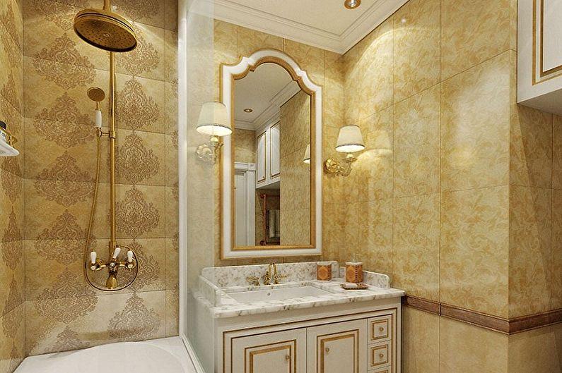 Маленькая ванная комната в классическом стиле - Дизайн интерьера