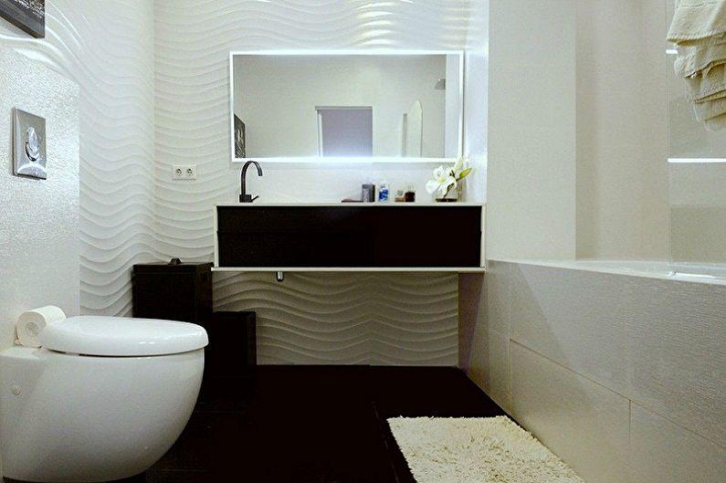 Маленькая ванная комната в стиле минимализм - Дизайн интерьера