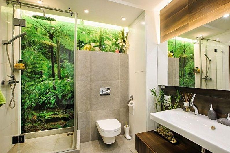 Маленькая ванная комната в эко-стиле - Дизайн интерьера
