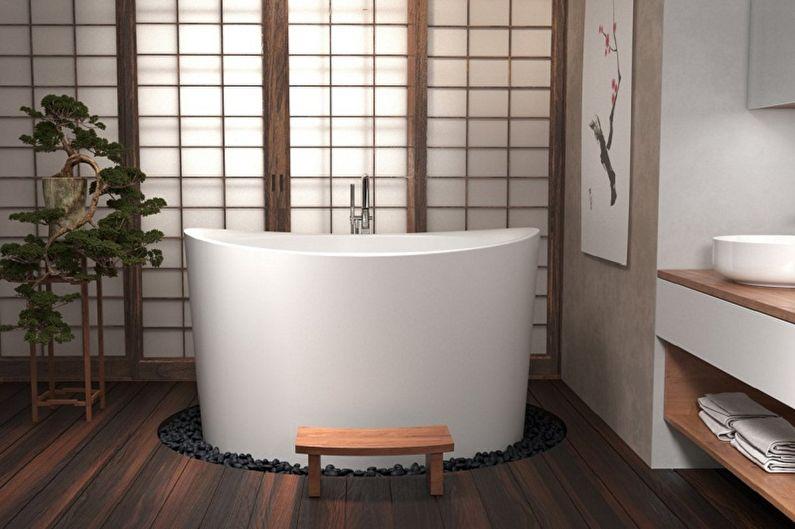 Маленькая ванная комната в японском стиле - Дизайн интерьера