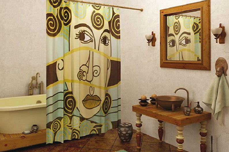 Маленькая ванная комната в стиле ретро - Дизайн интерьера