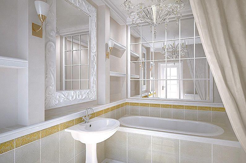Дизайн интерьера маленькой ванной комнаты - фото