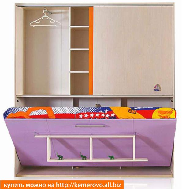 Горизонтальная детская шкаф-кровать