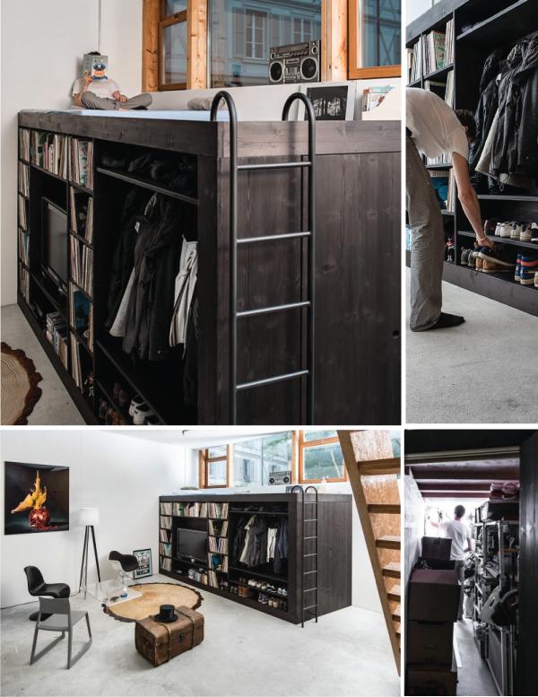 Кровать-комплекс: стенка, гардероб, кладовка