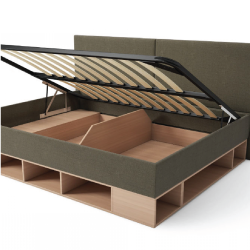Кровать с откидным механизмом и ящиками