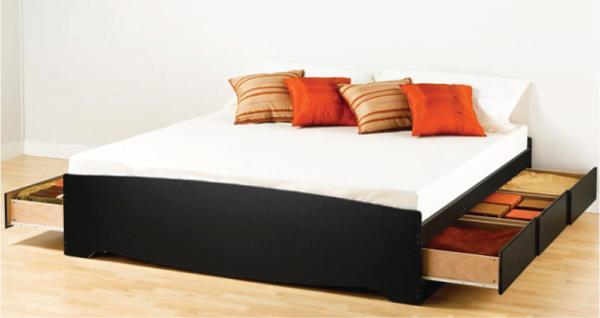 Дизайн постели с выкатанными коробами
