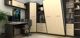 Шкаф-кровать, трансформер для холостяка