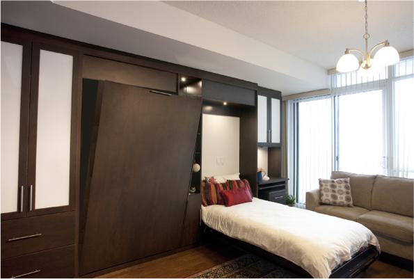 Двуспальная и односпальная шкаф-кровать