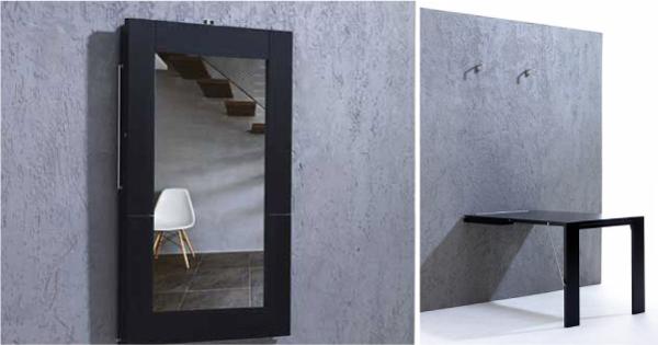 Откидной стол - зеркало, по принципу откидного стола – картины