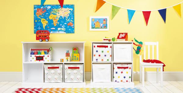 Коробки для вещей в детской комнате