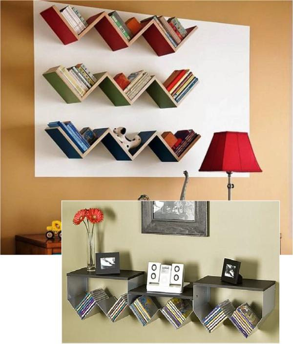 Навесные полки для книг