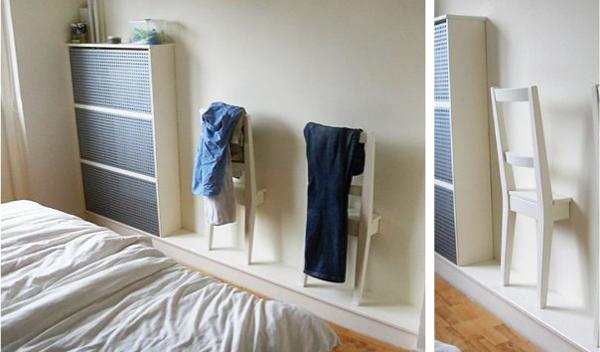 стул вешалка в спальню