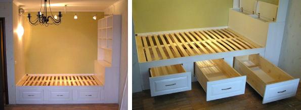 Как выглядит кровать в нише
