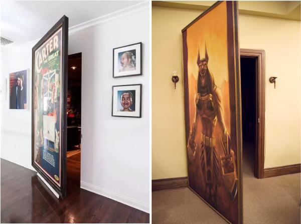 Дверь - картина, потайные двери
