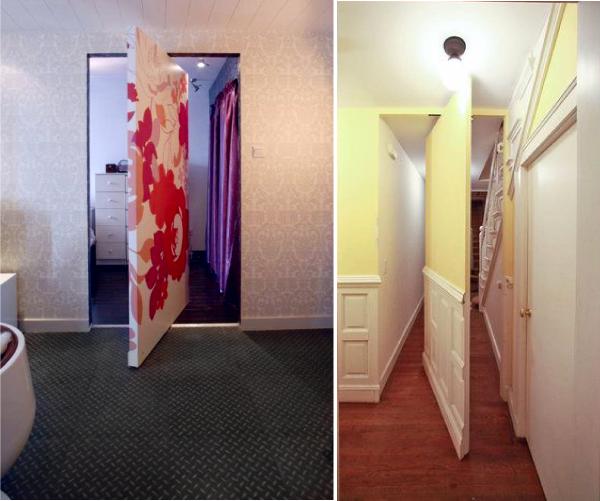 Дверь – поворотная стена, потайные двери