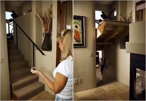 Дверь лестница, потайные двери