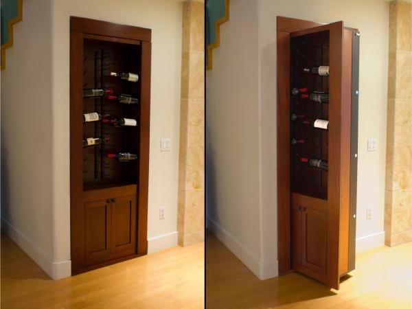 Дверь стеллаж, потайные двери