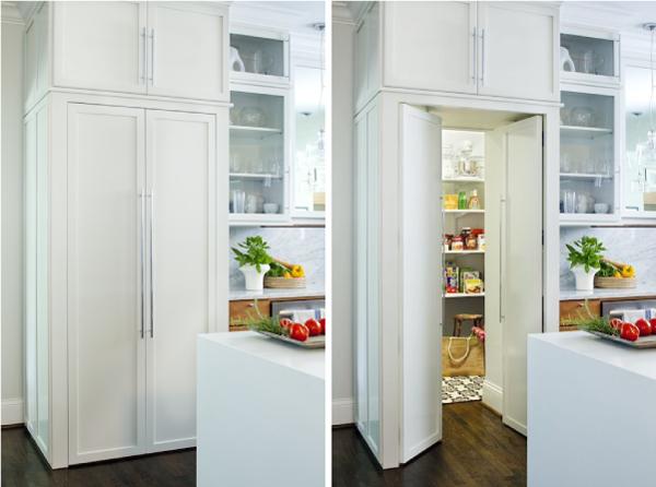 Дверь - шкаф в кладовку, потайные двери