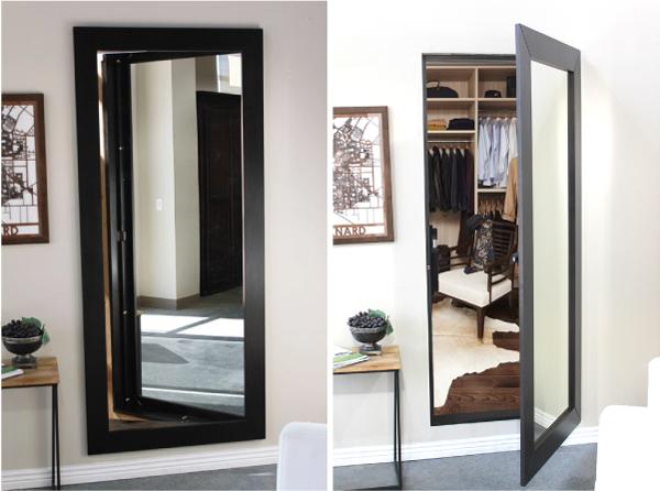 Дверь из зеркала, потайные двери