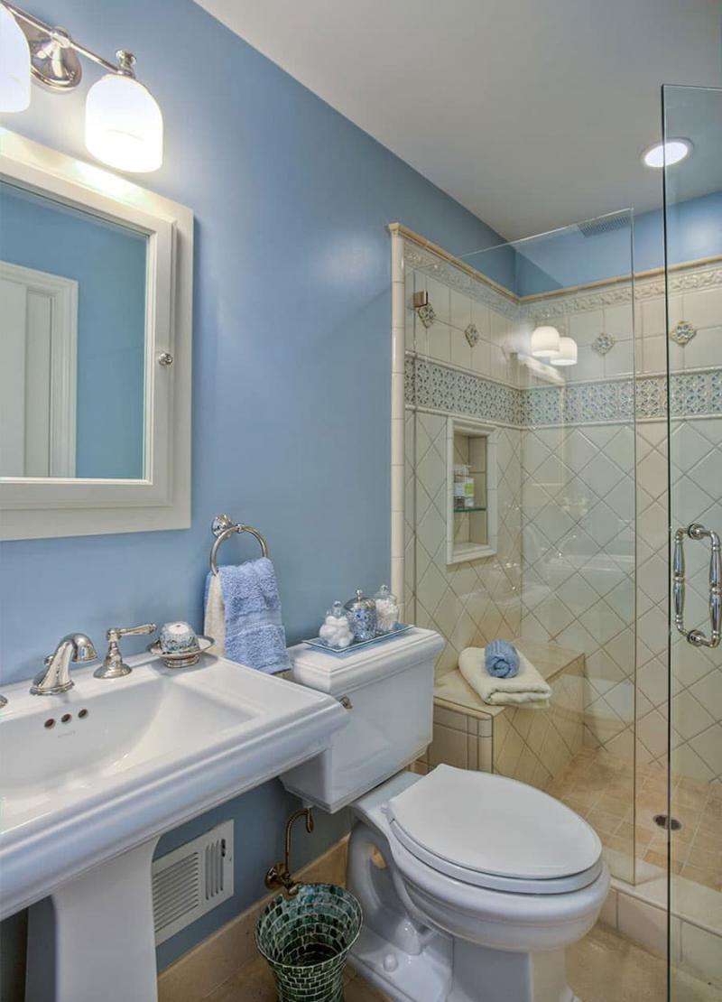 Дизайн маленькой ванной комнаты 1