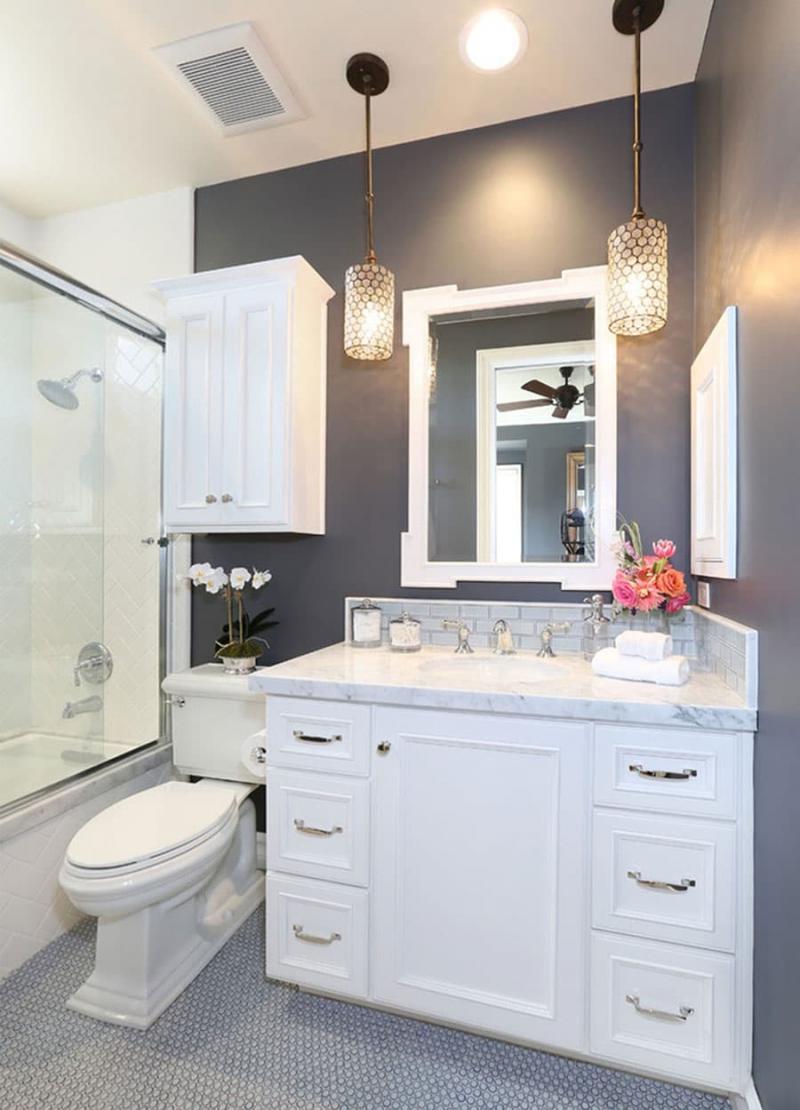 Дизайн маленькой ванной комнаты 10