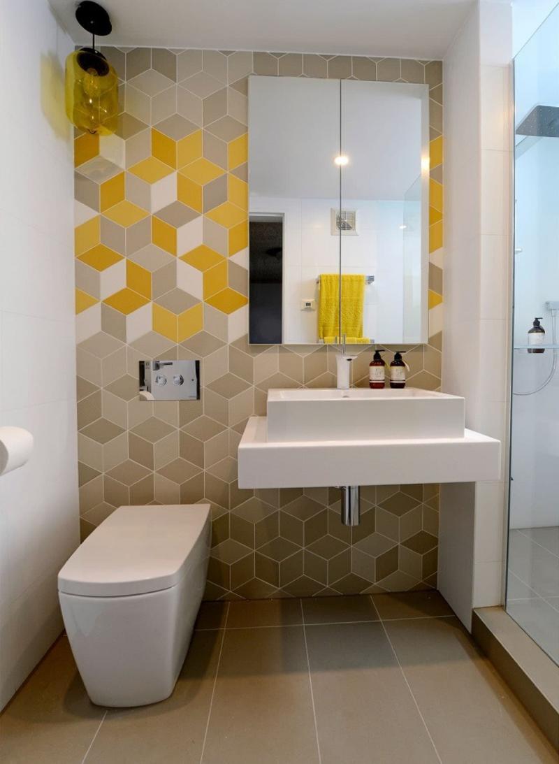 Идея оформления маленькой ванной комнаты 7