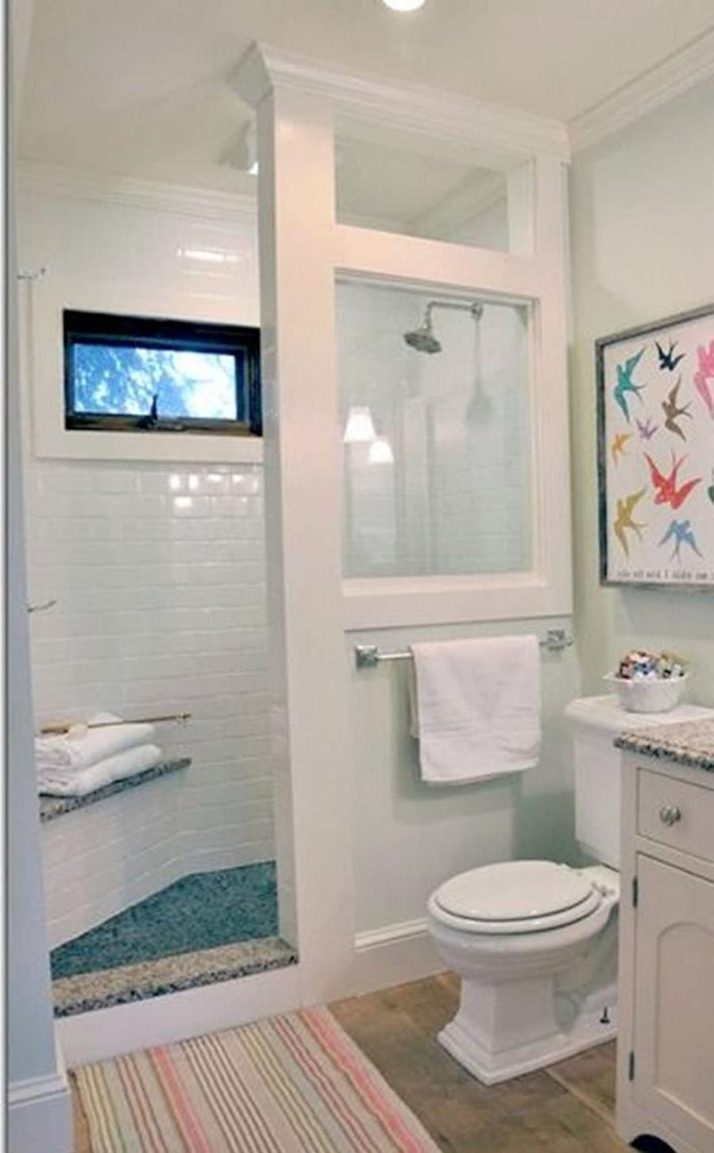 Интерьер маленькой ванной комнаты 1