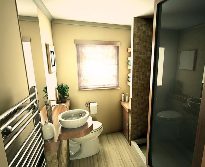 Интерьер маленькой ванной комнаты 4