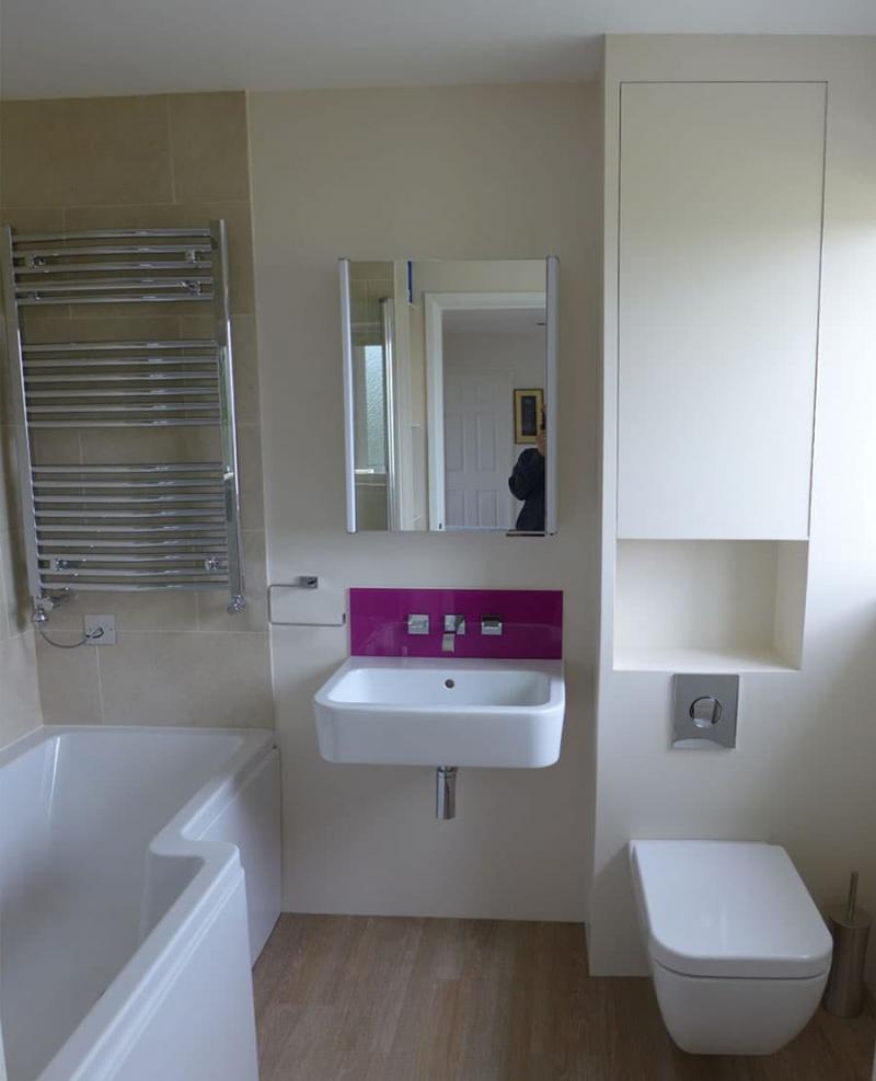 Интерьер маленькой ванной комнаты 5