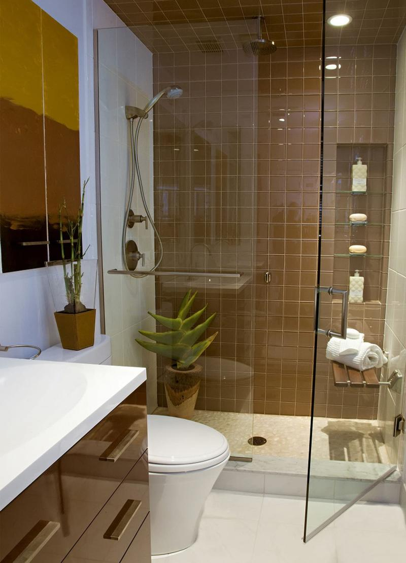 Маленькая ванная комната (интерьер) 10