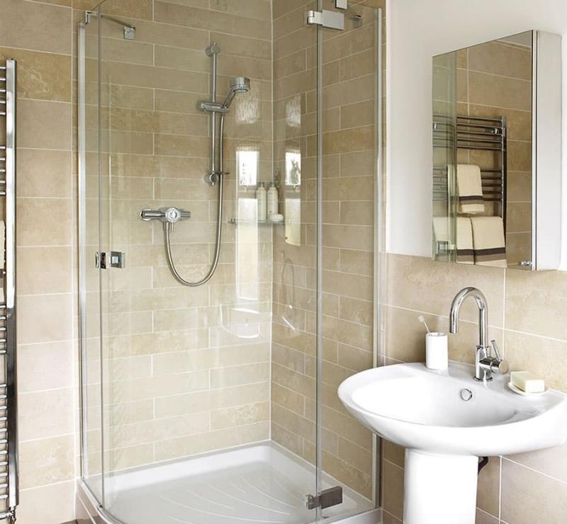 Маленькая ванная комната (интерьер) 5