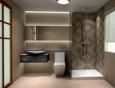 Идея оформления маленькой ванной комнаты 6