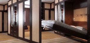 Откидная кровать и шкаф для одежды