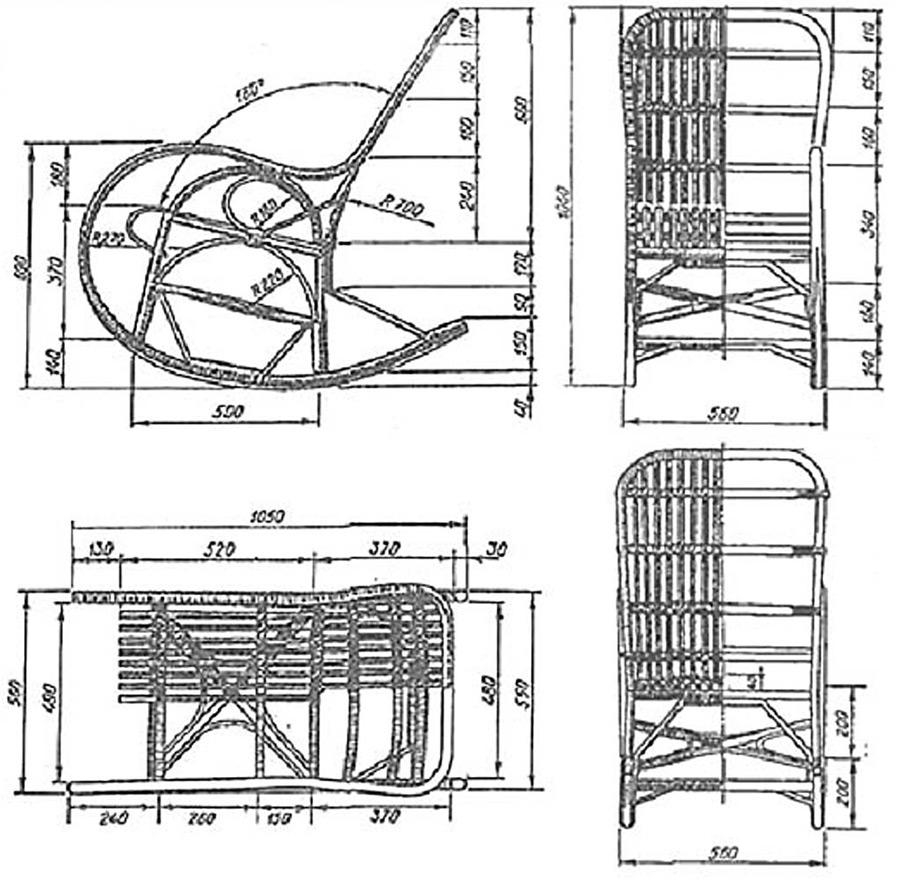 Сварное металлическое кресло-качалка
