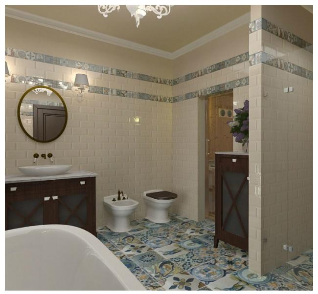 Интерьер ванной с туалетом 9 кв. м.