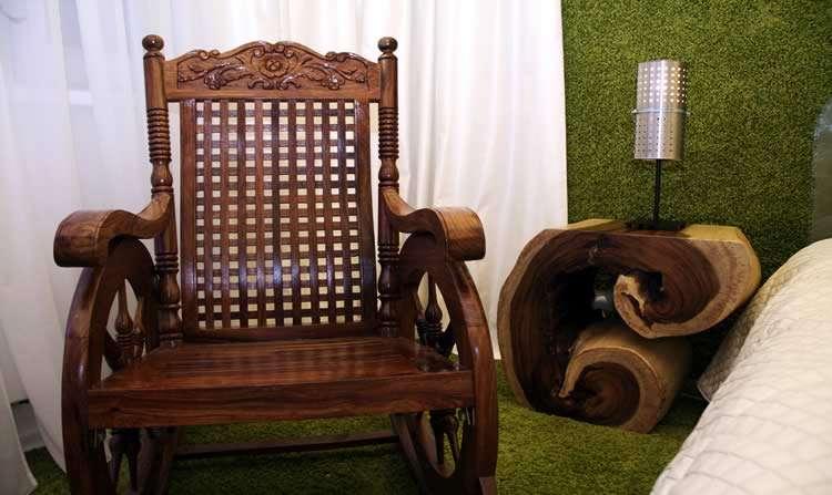 Кресло-качалка в интерьере