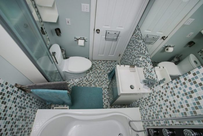 Дизайн маленькой ванной комнаты - идеи с фото