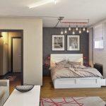 Дизайн однокомнатных квартир с нишей: ремонт комнат, интерьер квартир с альковом для кровати, расстановка мебели и планировка