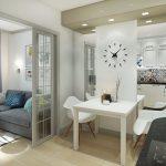 Дизайн студии 27 кв. м. планировки, идеи зонирования
